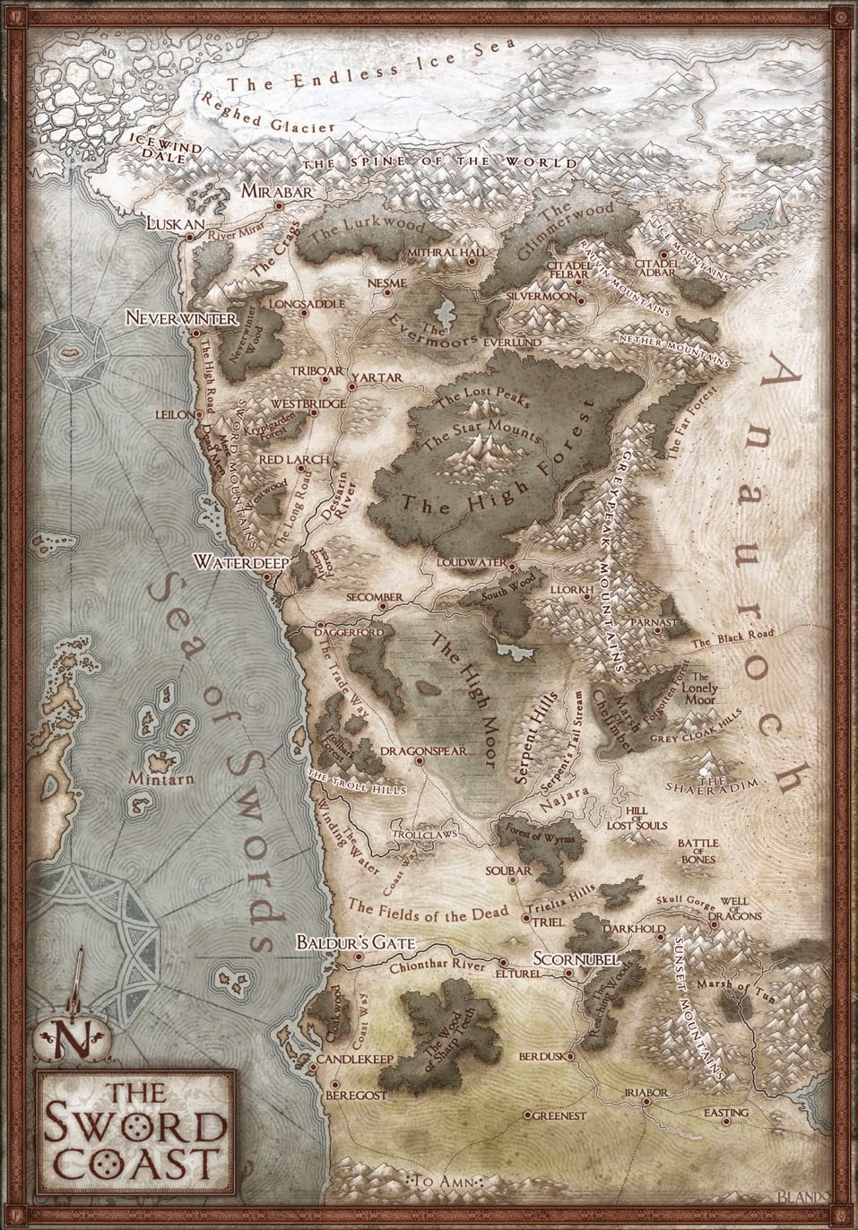 Sword Coast Map